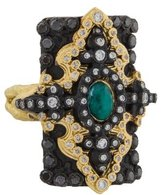 Armenta Two-Tone Old World Pointed Cross Ring
