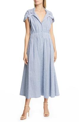 By Any Other Name Stripe Jacquard A-Line Midi Dress