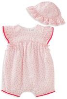 Absorba Infant Girls' Floral Romper & Hat Set - Sizes 0-9 Months