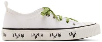 Lanvin White Canvas Logo Sneakers