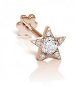 Maria Tash 5.5mm Diamond Star Threaded Through Single Earring - Rose Gold