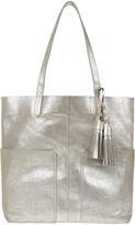 Accessorize Leather Double Pocket Shopper Bag