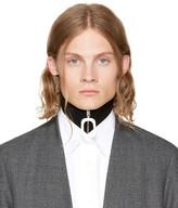 J.W.Anderson Black Wool Neckband Collar