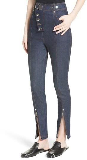 Alexander Wang Women's Snap High Waist Skinny Jeans
