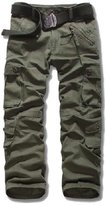 Myncoo Men's Cotton Solid & Camo Cargo Pants 18 Styles