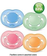 Philips Avent BPA Free Silicone Pacifiers, 6-18 Months, 2-pk, Color may vary