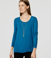 LOFT Stitched Tunic Sweater