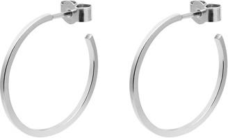 Myia Bonner Silver Hoop Earrings
