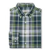 Merona Men's Plaid Button Down Shirt Blue/Green