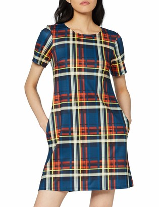 Dorothy Perkins Women's Check Seamed Fit & Flare Dress