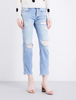 7 For All Mankind Jared distressed boyfriend-fit mid-rise jeans