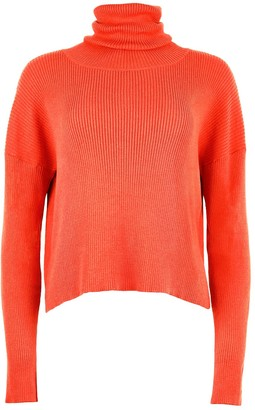 Blonde Gone Rogue Organic Turtleneck Jumper - Red