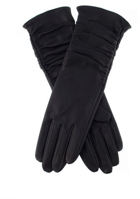Dents Womens Long Silk Lined Gloves