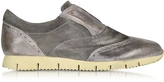 D'Acquasparta D'Acquasparta Raffaello Dark Gray Leather Slip On Shoe