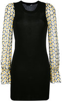 Love Moschino floral print sleeves dress - women - Polyester/Viscose - 38