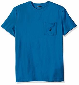 Nautica Men's Short Sleeve Stretch Pocket Crew Neck T-Shirt