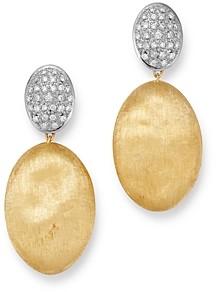Marco Bicego 18K Yellow & White Gold Siviglia Diamond Drop Earrings