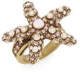 Heidi Daus Sea-ing Stars Swarovski Crystal Starfish Ring
