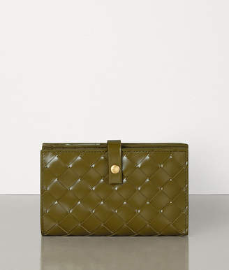 Bottega Veneta MINI FRENCH WALLET IN INTRECCIATO SPAZZOLATO CALF