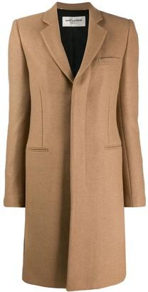 Saint Laurent Abrigo camel wool coat