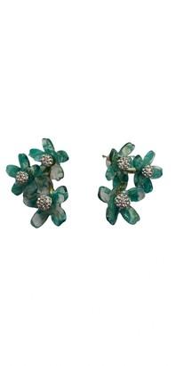 Lele Sadoughi Green Crystal Earrings