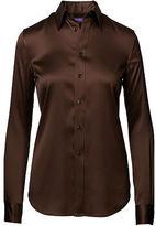 Ralph Lauren Cindy Stretch Silk Shirt