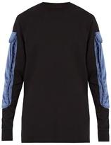 Cottweiler Contrast-pocket long-sleeved cotton T-shirt