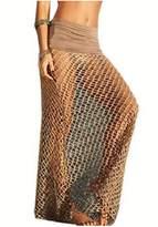 WenHong Women Mesh Crochet Bikini Swimwear Cover Up Beachwear Skirt Dress Swimsuit