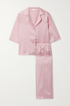 Skin Tay Stretch-silk Satin Pajama Set - Pastel pink