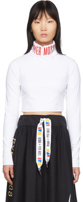 Pyer Moss Reebok By Reebok by White Collection 3 Logo Cropped Turtleneck
