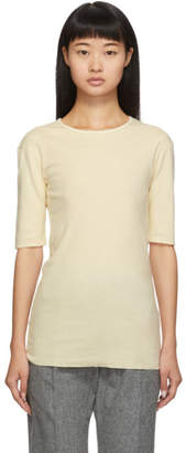 LAUREN MANOOGIAN SSENSE Exclusive Off-White Cashmere T-Shirt