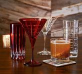 Pottery Barn Library Hand-Cut Martini Glass, Set of 6 - Red