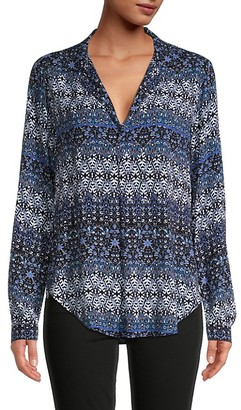 Karen Kane Printed Long-Sleeve Top
