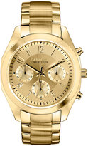 Bulova Caravelle New York by Women's Chronograph Gold-Tone Stainless Steel Bracelet Watch 36mm 44L118