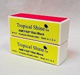Tropical Shine Flash Files 4-Way Nail Buffer Block 2 piece