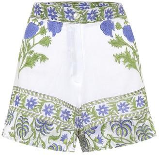 Juliet Dunn Printed cotton high-rise shorts