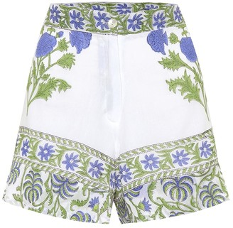Juliet Dunn Printed cotton high-rise shorts