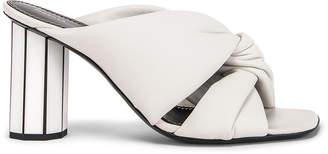 Proenza Schouler Mirror Heel Twist Mules in White | FWRD