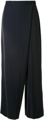 Ports 1961 Asymmetric Wide-Leg Sarong Trousers