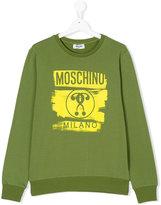 Moschino Kids question mark logo sweatshirt