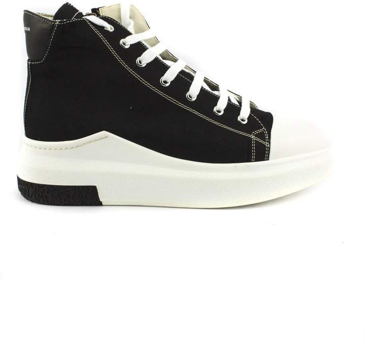 Cinzia Araia Black Leather Sneaker