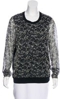 Tory Burch Paneled Floral Print Sweater w/ Tags