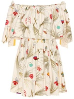 Fendi Exclusive to mytheresa.com – off-the-shoulder printed dress