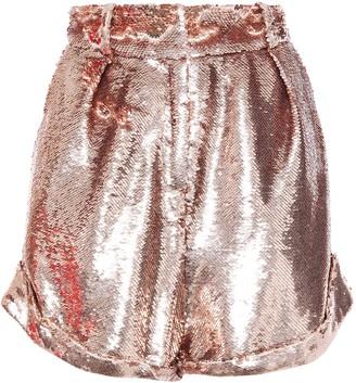 IRO Prodigy Pleated Sequined-mesh Shorts