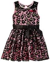 Betsey Johnson Flocked Illusion Dress (Toddler Girls)
