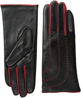 La Fiorentina Women's Sheep Leather Glove with Contrast Stitch