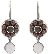 Bottega Veneta Stone-embellished sterling-silver earrings