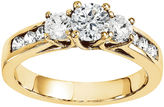 MODERN BRIDE 1 3/4 CT. T.W. Diamond 14K Yellow Gold 3-Stone Ring