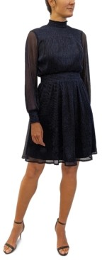 Sam Edelman Metallic Smocked Dress