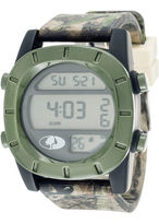 JCPenney Mossy Oak Mens Olive Bezel Camouflage Silicone Strap Sport Watch